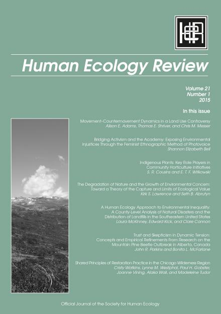 Human Ecology Review: Volume 21, Number 1