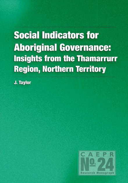Social Indicators for Aboriginal Governance