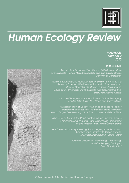 Human Ecology Review: Volume 21, Number 2