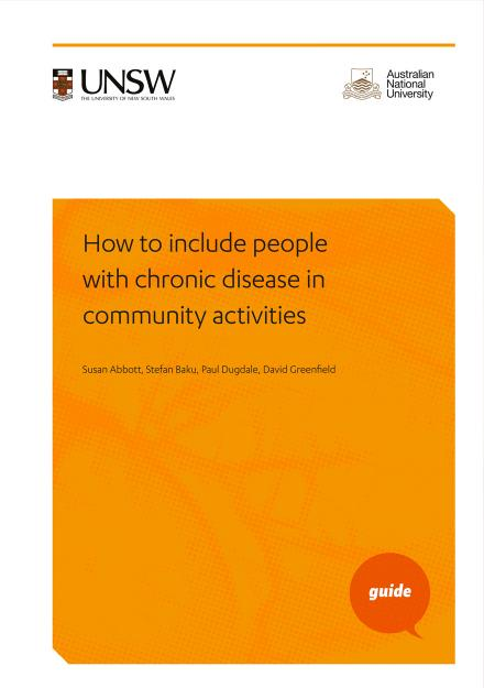 CHS Guide: How to include people with chronic disease in community activities