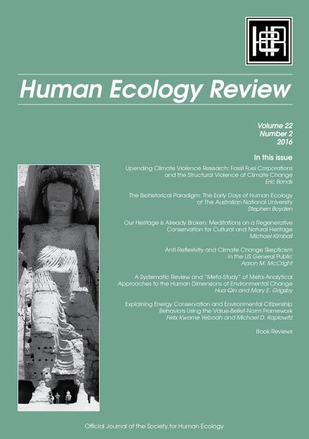 Human Ecology Review: Volume 22, Number 2