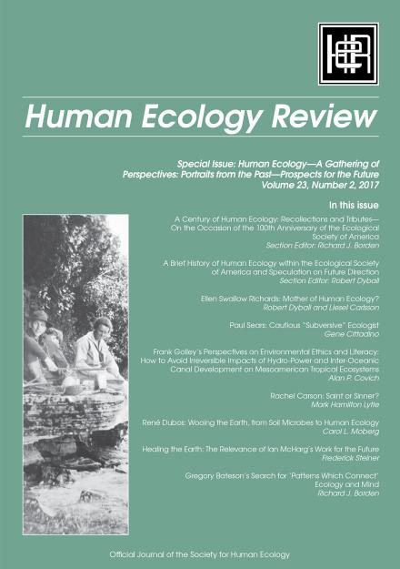 Human Ecology Review: Volume 23, Number 2
