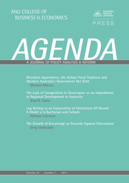 Agenda: Volume 24, Number 1, 2017