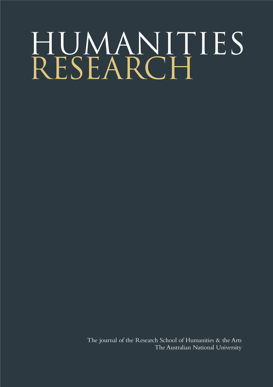 Humanities Research Journal Series: Volume X. No. 2. 2003
