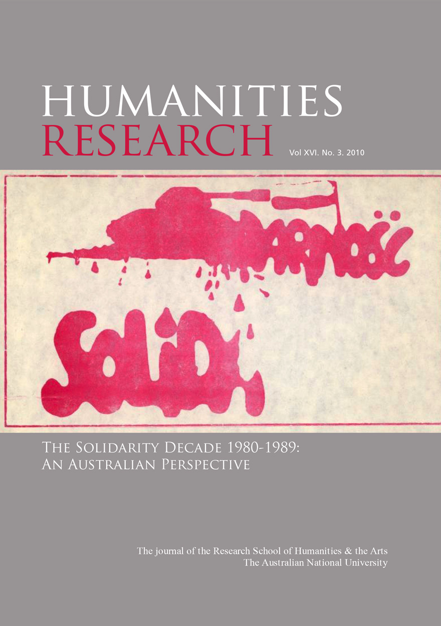 Humanities Research Journal Series: Volume XVI. No. 3. 2010
