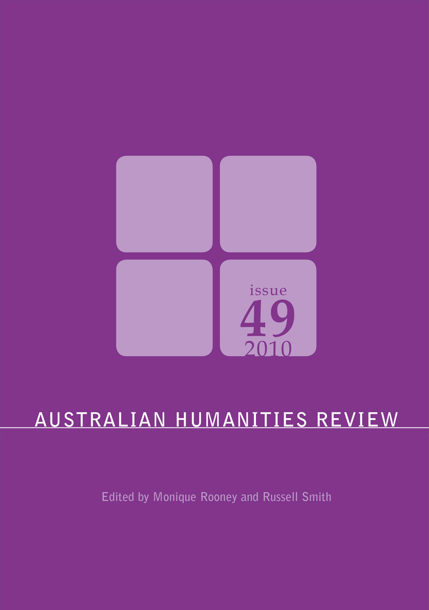 Australian Humanities Review: Issue 49, 2010