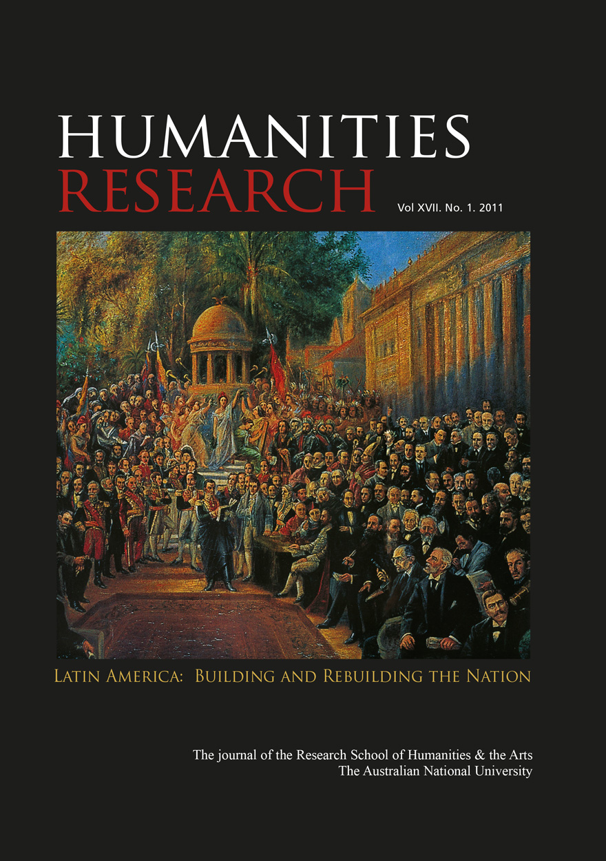 Humanities Research Journal Series: Volume XVII. No. 1. 2011