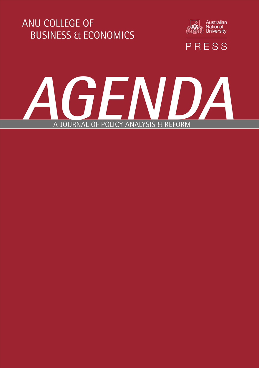 Agenda - A Journal of Policy Analysis and Reform: Volume 3, Number 3, 1996