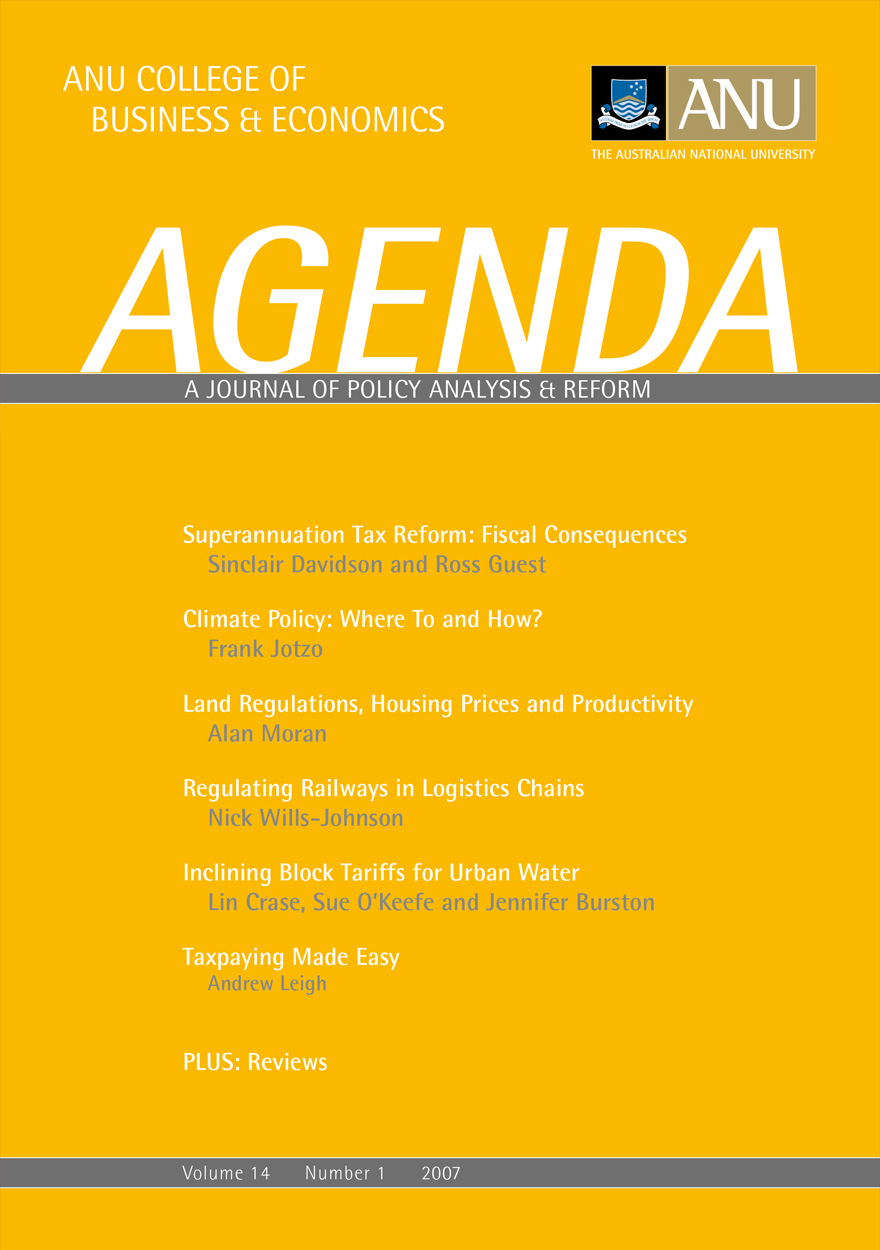 Agenda - A Journal of Policy Analysis and Reform: Volume 14, Number 1, 2007