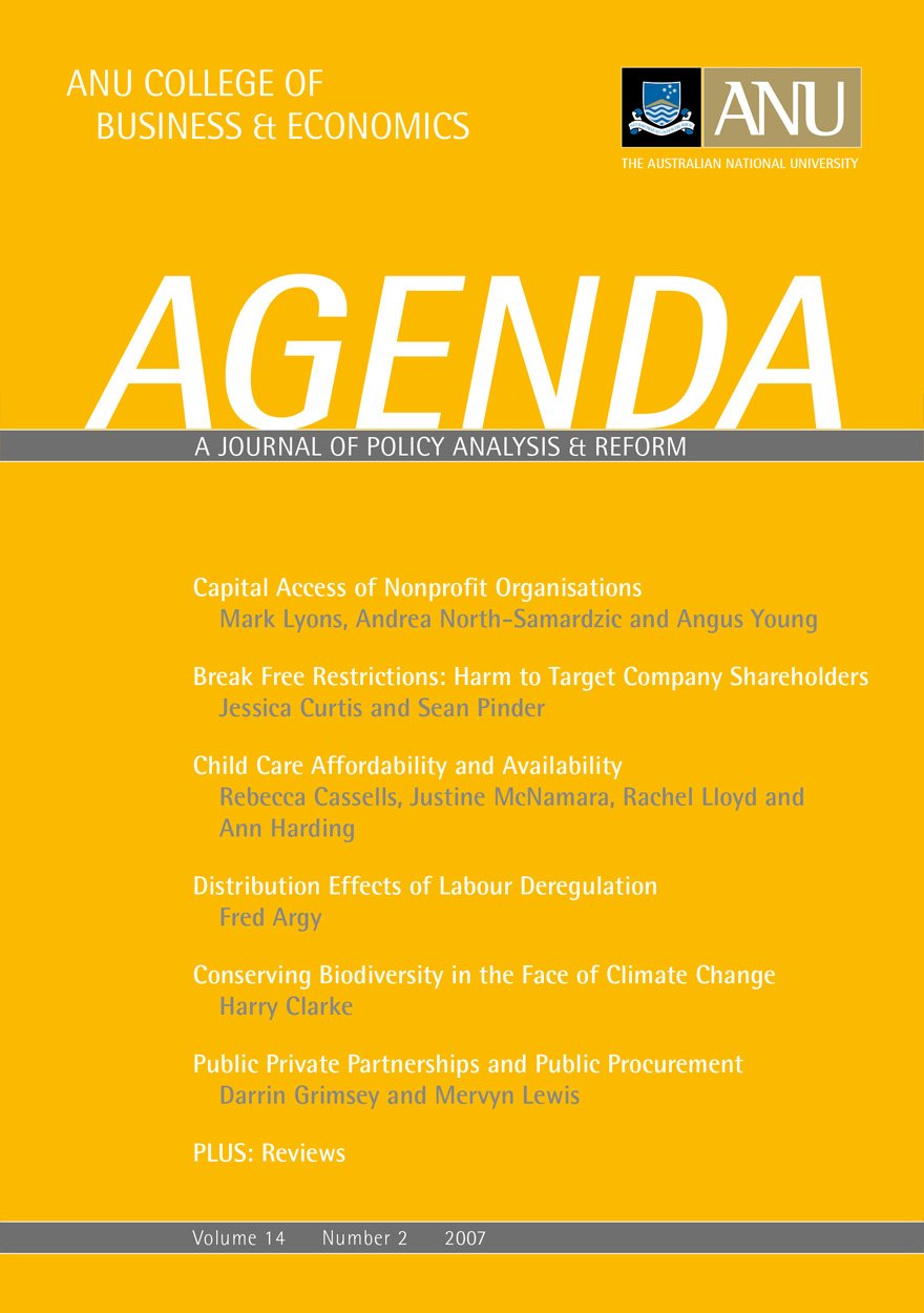 Agenda - A Journal of Policy Analysis and Reform: Volume 14, Number 2, 2007