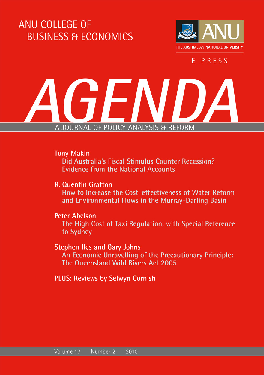Agenda - A Journal of Policy Analysis and Reform: Volume 17, Number 2, 2010