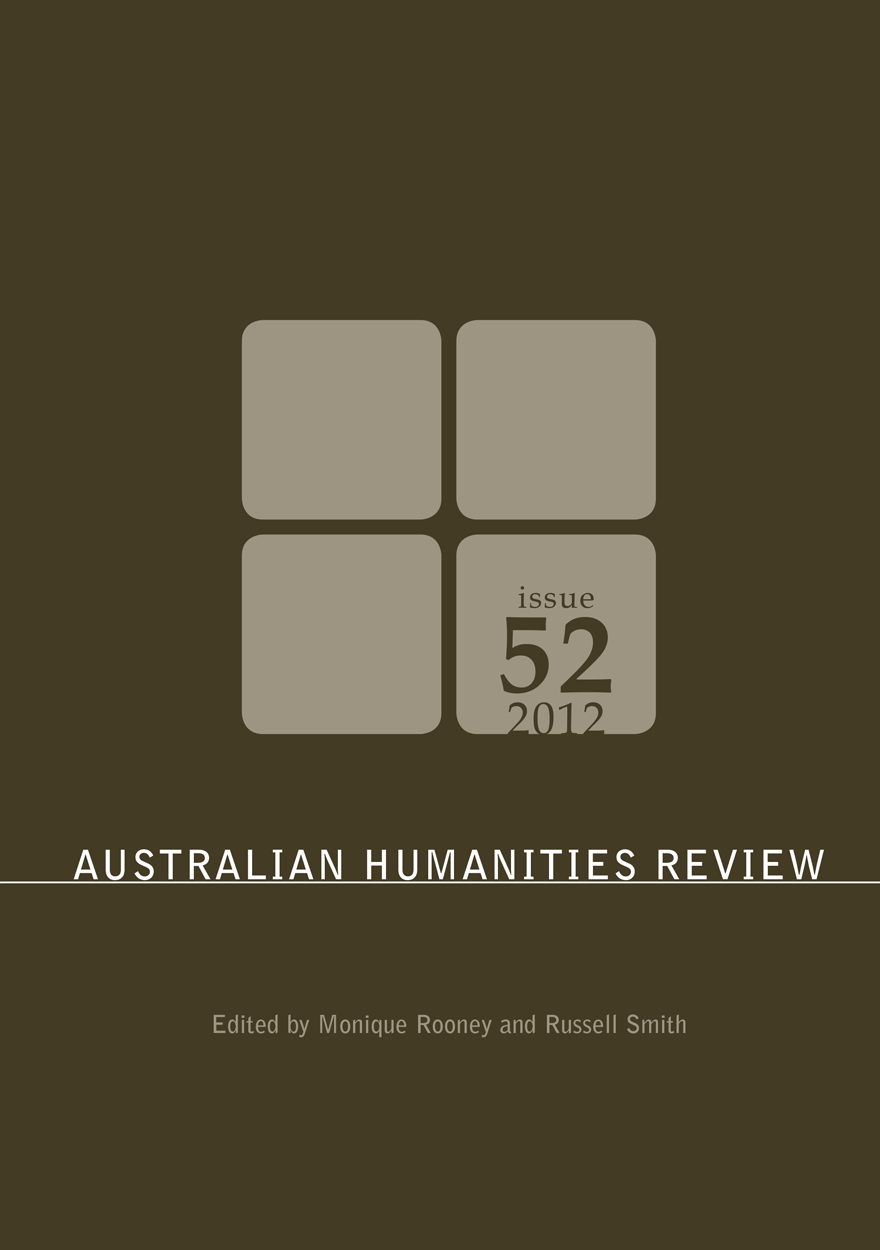 Australian Humanities Review: Issue 52, 2012