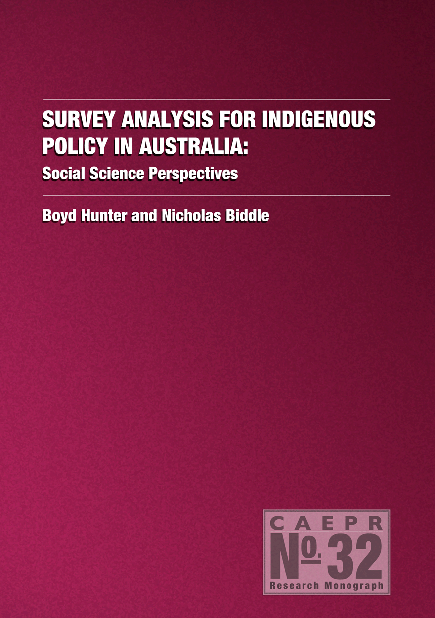 Survey Analysis for Indigenous Policy in Australia