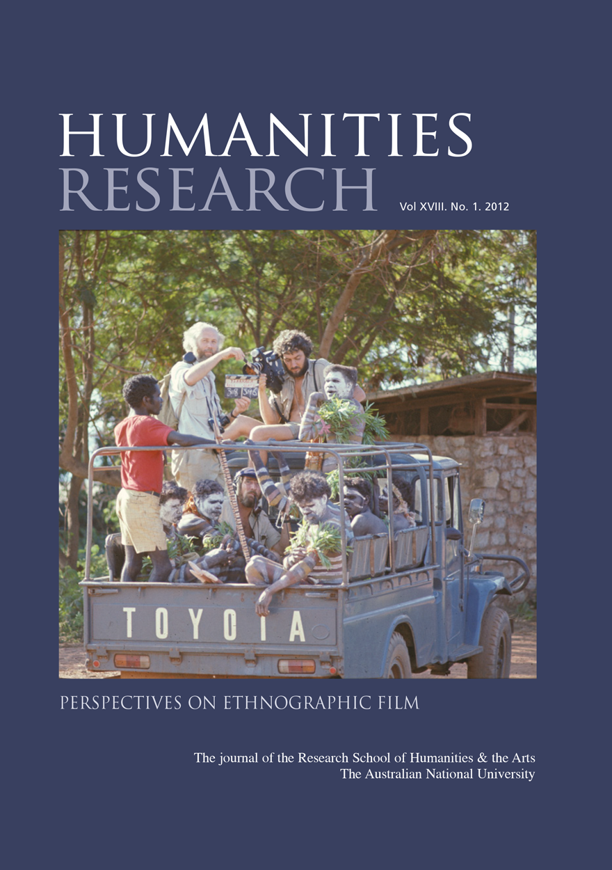 Humanities Research Journal Series:  Volume XVIII. No. 1. 2012