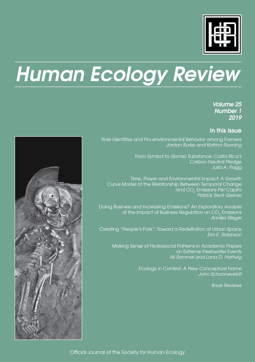 Human Ecology Review: Volume 25, Number 1
