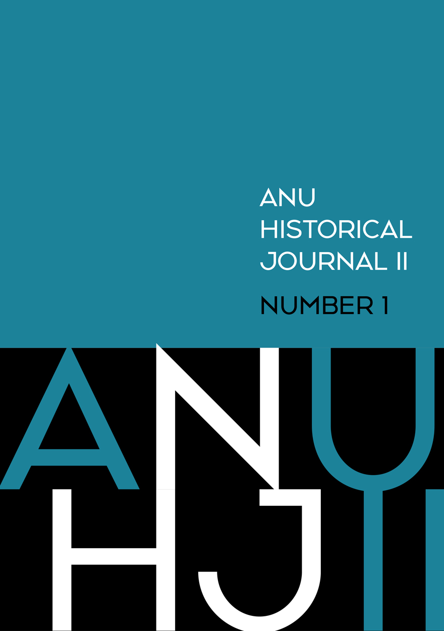 ANU Historical Journal II: Number 1