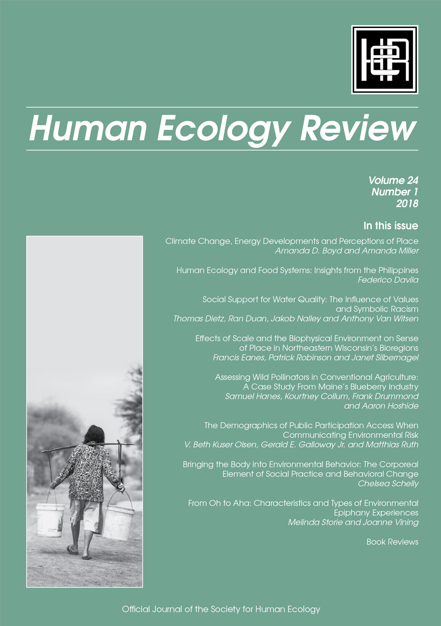 Human Ecology Review: Volume 24, Number 1