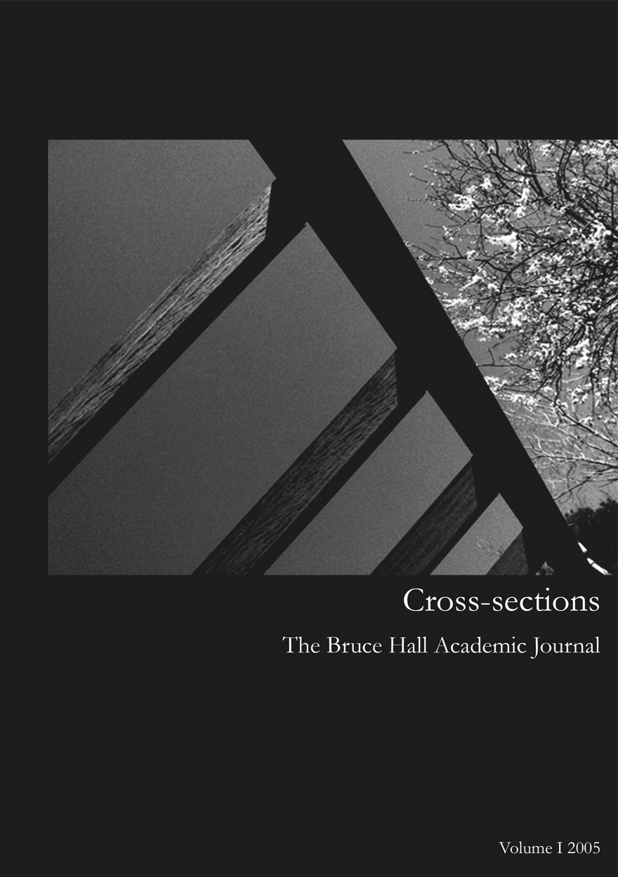 Cross-sections, The Bruce Hall Academic Journal: Volume I, 2005