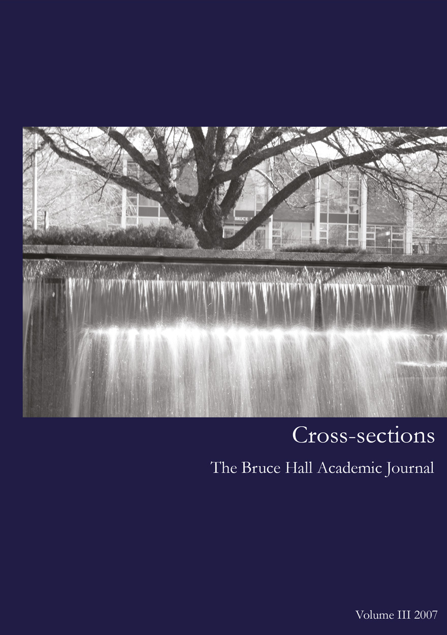 Cross-sections, The Bruce Hall Academic Journal: Volume III, 2007