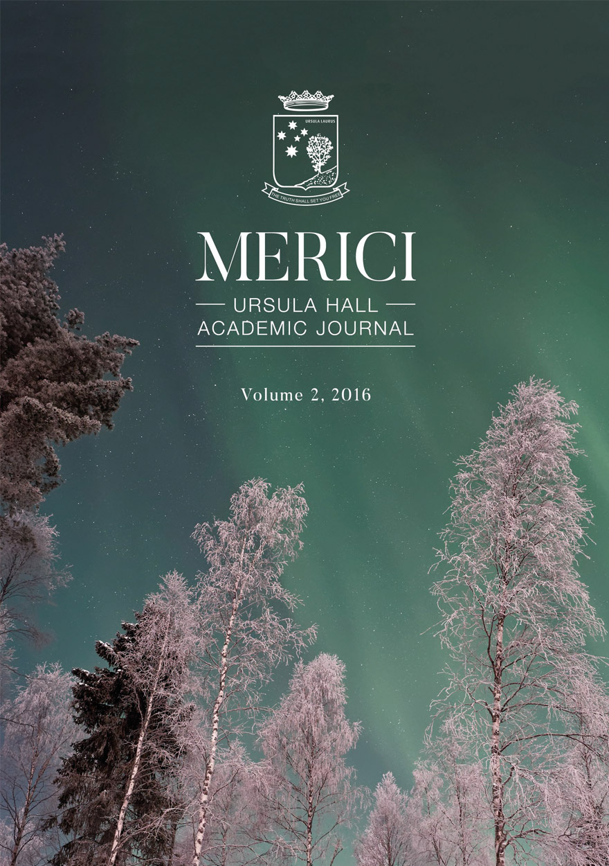 Merici - Ursula Hall Academic Journal: Volume 2, 2016